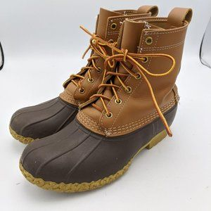 LL Bean Classic Duck Hunting Boots Brown Leather